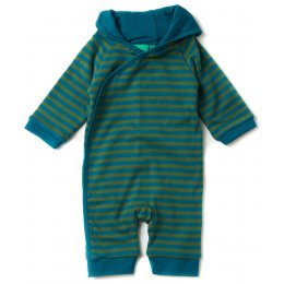 Woodland Stripe Double Layer Hooded Romper
