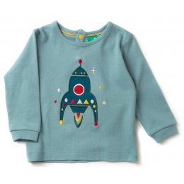 Rocket To The Stars Applique T-Shirt