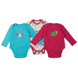 Frugi Super Special Hare & Tortoise Body - 3 Pack