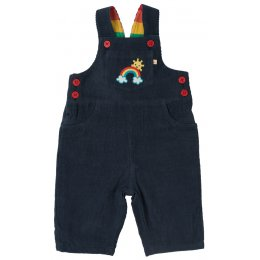 Frugi Dylan Rainbow Dungarees - Navy