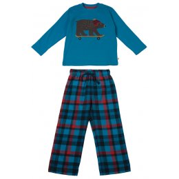 Frugi Super Skateboarding Bear Pyjama Set