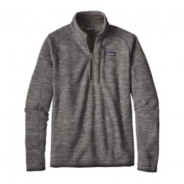 Patagonia Mens Better Sweater 1/4 Zip Jacket - Nickel