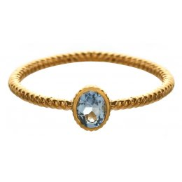 Marzipants 18ct Gold Ring - Aquamarine