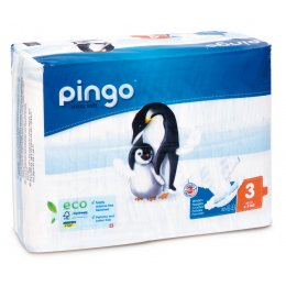 Pingo Ecological Disposable Nappies - Midi - Size 3 - Pack of 44