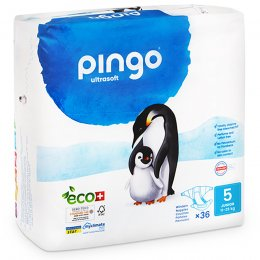 Pingo Ecological Disposable Nappies - Junior - Size 5 - Pack of 36