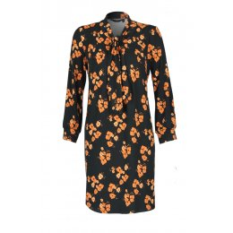 Nancy Dee Frida Orange Poppies Dress