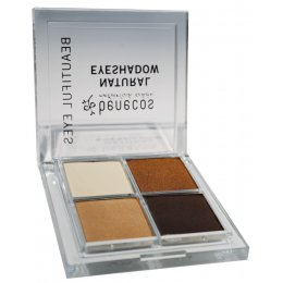 Benecos Natural Quattro Eye Shadow - Coffee & Cream - 8g