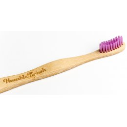Humble Brush Adult Bamboo Toothbrush - Medium - Purple