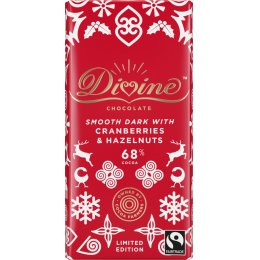 Divine Limited Edition Dark Chocolate with Cranberries & Hazelnuts - 90g