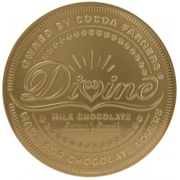 Divine Giant Milk Chocolate Coin 58g