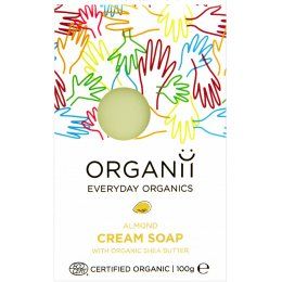 Organii Organic Cream Soap Bar - Almond - 100g