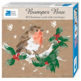 RSPB Christmas Bumper Box - 20 Cards