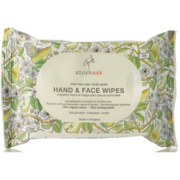 Storksak Organics Face and Hand Wipes - 25 pack