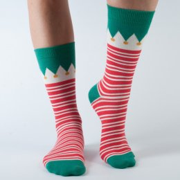 Doris & Dude Womens Christmas Elf Red Socks