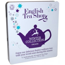English Tea Shop Organic Winter Tin - 72 Individually Wrapped Bags