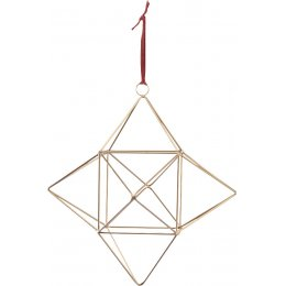 Talini Geometric Star - Antique Brass - Medium