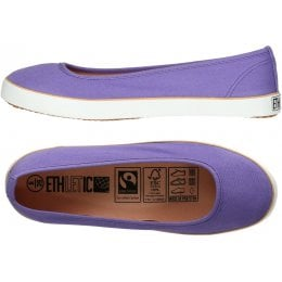 Ethletic Fairtrade Dancer Shoes - Purple Rain