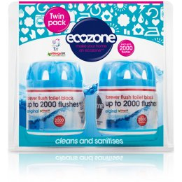Ecozone Forever Flush Toilet Block -  Twin pack
