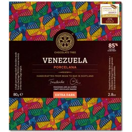 Chocolate Tree Bean to Bar - Venezuela Extra Dark Chocolate 85 percent  - 80g