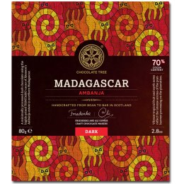 Chocolate Tree Bean to Bar - Madagascan Dark Chocolate 70 percent  - 80g
