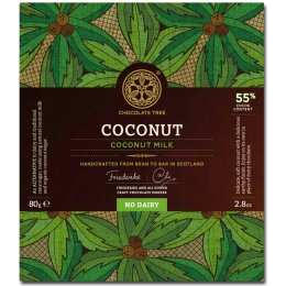 Chocolate Tree Bean to Bar - Dairy Free Coconut Milk Chocolate 55 percent  - 80g