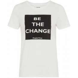People Tree Be The Change T-Shirt - White