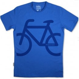 Silverstick Mens Bike Organic Cotton T-Shirt - Atlantic Blue