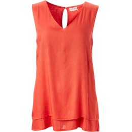 Nomads Double Layer Vest Top - Tomato