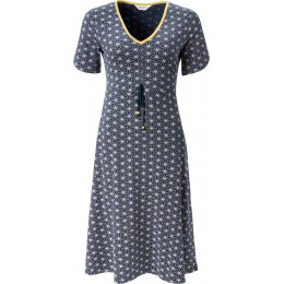 Nomads Ruched Front Dress - Navy
