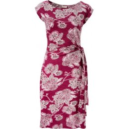Nomads Tie Side Dress - Raspberry