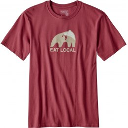 Patagonia Mens Eat Local Upstream T-Shirt - Red