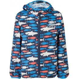 Frugi Puddle Buster Packaway Jacket - Shark Print