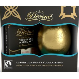 Divine Luxury Dark Chocolate Easter Egg with Tasting Set