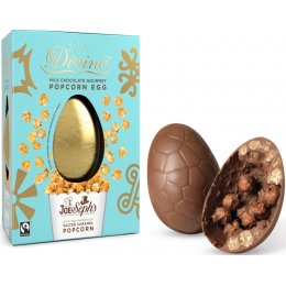 Divine Milk Chocolate Easter Egg With Joe & Sephs Salted Caramel Popcorn