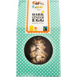 Cocoa Loco Crystalised Ginger Dark Chocolate Easter Egg 225g