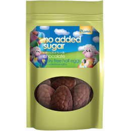 Plamil No Added Sugar Dairy Free Milky Half Chocolate Easter Eggs - 125g