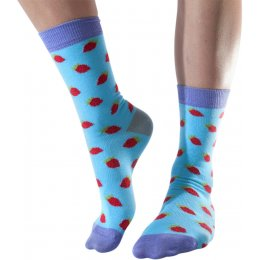 Doris & Dude Womens Strawberry Bamboo Socks - Size 3-7