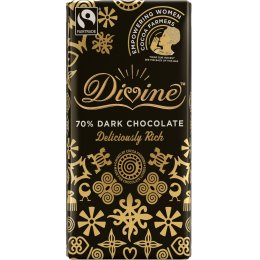 Divine 70 percent  Dark Chocolate Womens Sharing Bar