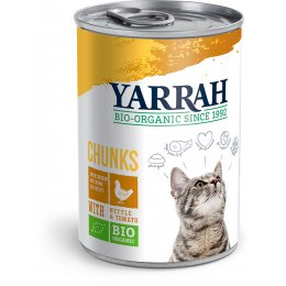 Yarrah Organic Adult Cat Food - Chicken In Nettle & Tomato Sauce 405g