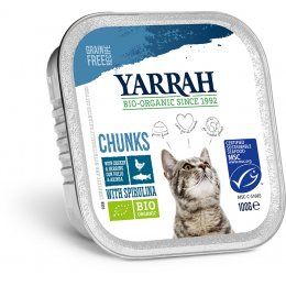 Yarrah Organic Cat Food - Chicken & Mackerel Chunks With Spirulina 100g