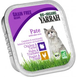 Yarrah Organic Cat Food - Chicken & Turkey Pate With Aloe Vera 100g