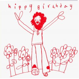 Arthouse Meath Charity Hippy Birthday Card