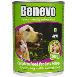 Benevo Duo - Moist Vegan Tinned Cat & Dog Food - 362g