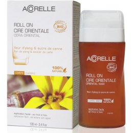 Acorelle Sugar Wax Roll-on Wax with Strips - 100ml