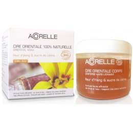 Acorelle Sugar Wax with Strips - Body - Ylang Ylang Flower & Sugar Cane - Pot - 300g