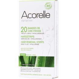 Acorelle Ready to use Strips - Face - Aloe Vera & Beeswax - 20 strips