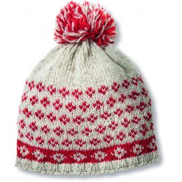 Womens Tromso Bobble Beanie - Red