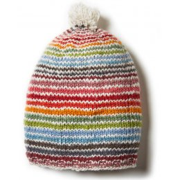 Womens Hoxton Stripe Baggy Beanie Hat - Multi Coloured