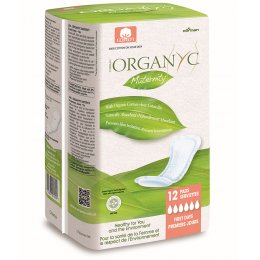Organyc 100 percent  Organic Cotton Maternity Pads - Pack Of 12