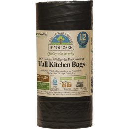 If You Care Recycled Tall Drawstring Kitchen Bin Bags - 60L - 12 Bags